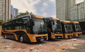 Bán xe Thaco 40 giường, máy Huyndai sx 2013 giá 750 triệu tại Tp.HCM