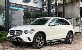 Bán Mercedes GLC200 4Matic sx 2021 màu trắng, nội thất kem siêu lướt 1200km, duy nhất trên thị trường giá 2 tỷ 99 tr tại Hà Nội